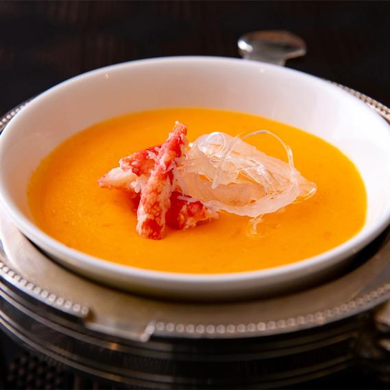伝承の一品 カニの卵入りふかひれスープ
